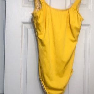 One Piece Yellow Swimsuit